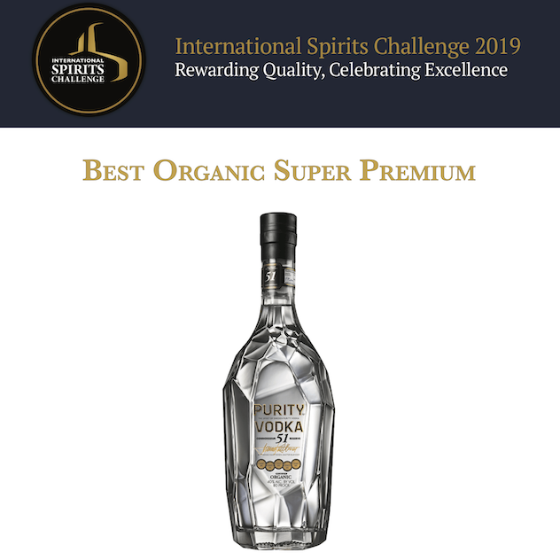 Purity Vodka trionfa all'International Spirits Challenge di Londra.